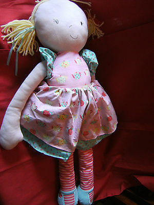 "Large M&S 31"" Soft Rag Doll with blonde hair VGC"