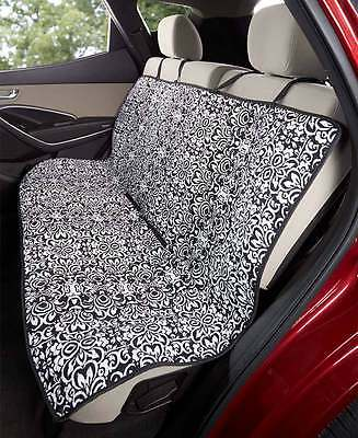 Quilted Damask Car Seat Cover Mat Protector Pet Dog Kids Water Resistant Auto