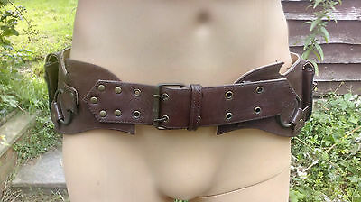 LARP Scouts Belt with pouchs END OF LINE. REDUCED, Brown