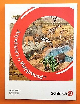SCHLEICH HÄNDLERKATALOG 2015 DIN A4 TRADE CATALOGUE KATALOG BOOK - 216 Pages