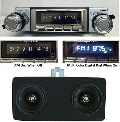 1967 Chevelle El Camino Malibu Bluetooth Radio + Stereo Dash Speaker NO AC 740
