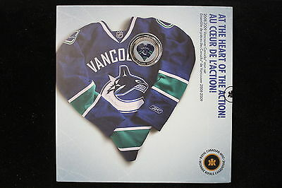 2008 - 2009 Vancouver Canucks Coin Gift Set with Commemorative Dollar