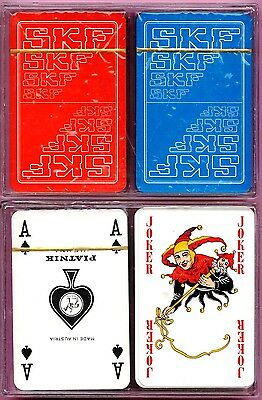 Playing cards, 1 deck made by PIATNIK (Austria) with SKF logo in the 1990s - NEW