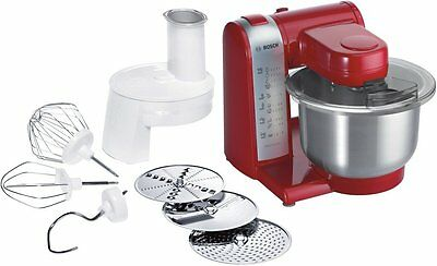 RED BOSCH MUM48R1GB MULTI FUNCTION 600w FOOD MIXER PROCESSOR RED - BRAND NEW