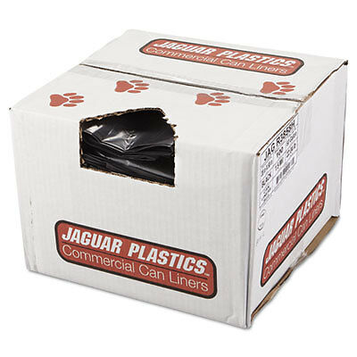 Repro Low-Density Can Liners, 38 x 58, Black, 100/Carton