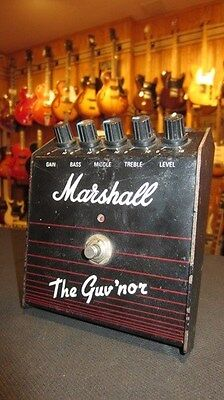 Vintage Late 1980's Marshall The Guv'nor Distortion Pedal Black & Purple Awesome