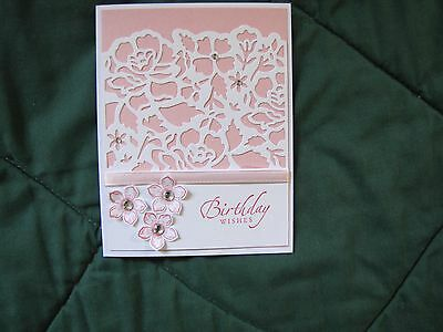 Birthday Floral Flourish Congratulations thank you Card Kit w/Some Stampin Up