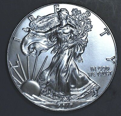 2017 1 oz AMERICAN SILVER EAGLE BRILLIANT UNCIRCULATED ASE  SKU2017B
