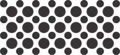 [53x] Black Camera Dots Webcam Lens And LED Light Cover Privacy Sticker Decals