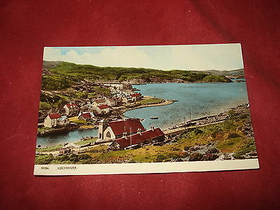 VINTAGE SCOTLAND: LOCHINVER panorama colour tint