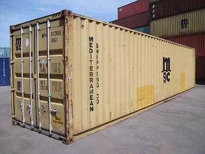 """40 Ft (12M) Used High Cube Shipping Containers ( 9Ft 6"""" High )"""