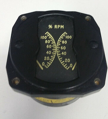 Redifon Type 09524 Dual RPM Gauge  6930-21-840-4655