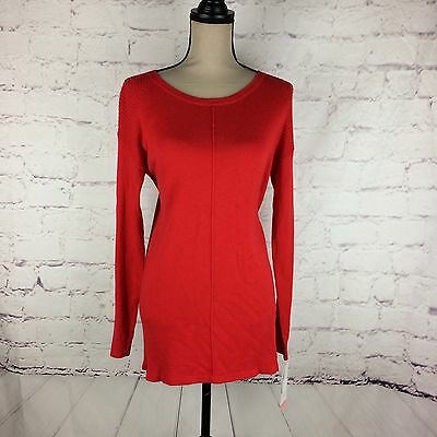 New Liz Lange Maternity Deep Red Soft Long Sleeves Cardigan Sweater Top Size Xs