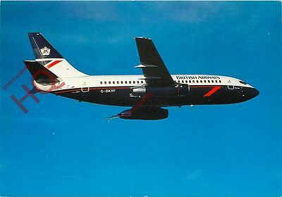 Postcard- BRITISH AIRWAYS BOEING 737 G-BKYF [AIRLINE ISSUE]