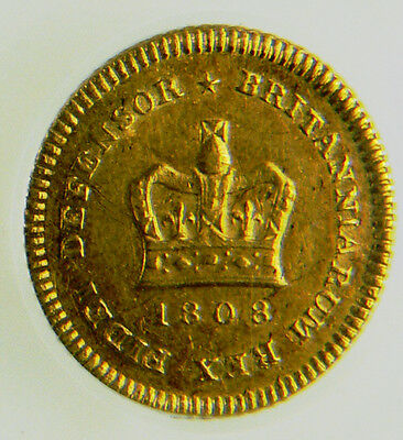 1808 AEF George III Gold Third Guinea CGS 55, AU55 ☆☆ CGS Joint Finest Graded ☆☆