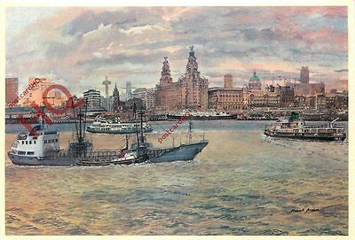 Postcard- Liverpool, The Pier Head And Riverfront, Frank Green