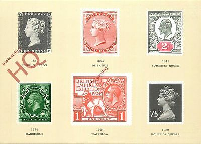Postcard, National Postal Museum, British Postal Stamps Through The Ages