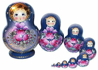 10 Pc Russian Nesting Dolls Matreshka #p-127399