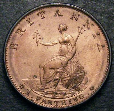1799 Choice UNC George III Farthing Coin CGS, MS 64-65 ☆ CGS 2nd Finest Graded ☆