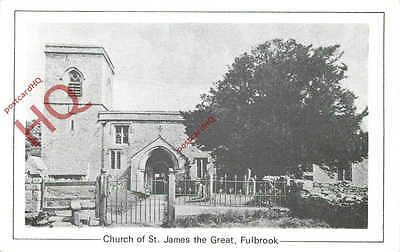 Postcard: Fulbrook, Church Of St. James The Great