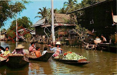 Postcard: Thailand, View Of Khlong Or Canal Dwellers, Bangkok