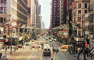 Postcard::Downtown Chicago, State Street