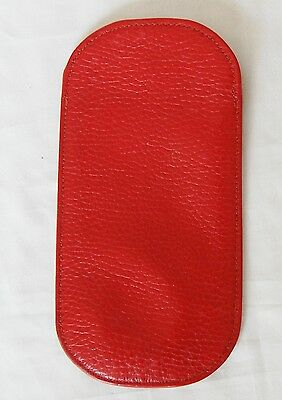 red leather SMYTHSON glasses case wallet