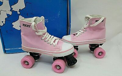 Roces Converse Style Kuod Classic Roller Pink Quad Roller Skates Size 3
