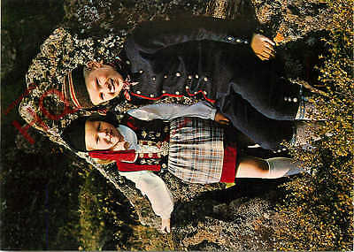 Postcard:;Iceland, National Costumes, With Girl's Upphlutur