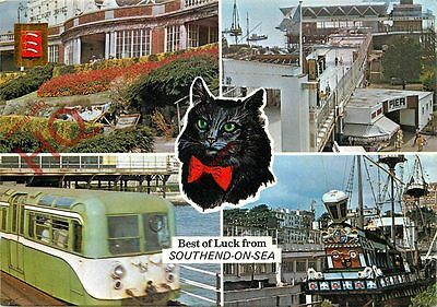 Postcard:;Best Of Luck From Southend On Sea (Multiview)