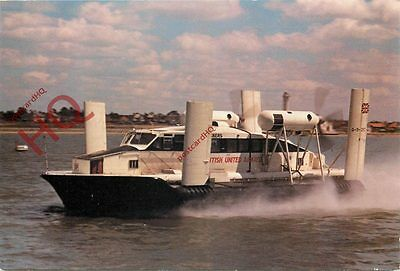 Postcard:;CARRIAGE OF MAIL BY HOVERCRAFT, BRITISH UNITED AIRWAYS