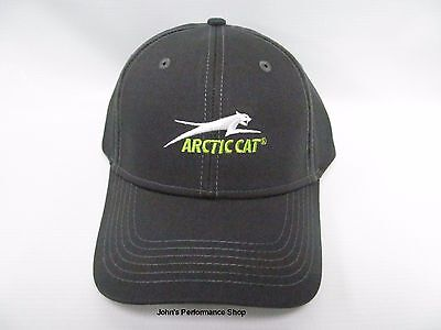 Arctic Cat Dark Gray Aircat Logo Adjustable Baseball Hat Cap 5283-098
