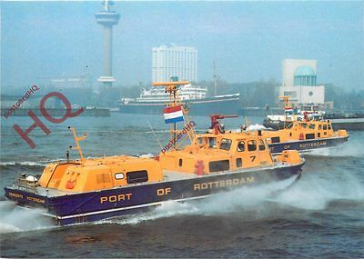 Postcard:-SIDEWALL HOVERCRAFT, FORT OF ROTTERDAM AUTHORITY RESCUE CRAFT