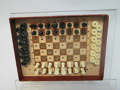 ILEX Wooden Travelling Chess and Draughts Set