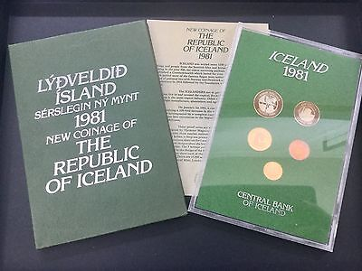 ICELAND PROOF COIN SET ROYAL MINT. REPUBLIC of ICELAND 1981.