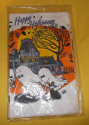 VINTAGE HALLOWEEN PAPER TABLECLOTH C.A.REED OLD STORE STOCK NEW in PACKAGE