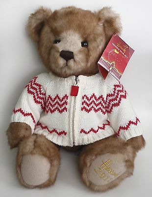 "Harrods 2011 Foot Dated 13"" Annual Christmas Teddy Bear Named Freddie Tagged"