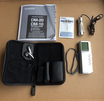 Olympus DM-20 Voice Recorder Writer's & Lecture Dictaphone & MP3 Player - Manual