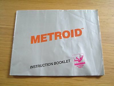 INSTRUCTION MANUAL ONLY for Nintendo NES Metroid game