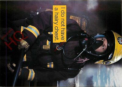 Postcard-:WOMAN FIREFIGHTER, I DO NOT HAVE A HAIRY CHEST