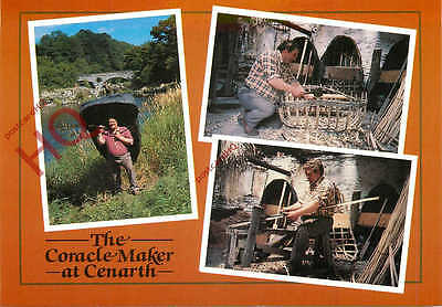 Postcard; Cenarth, The Coracle Maker (Multiview)