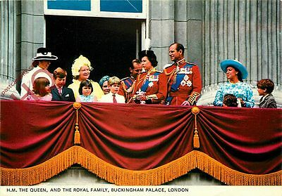 Postcard; H.M. The Queen, And The Royal Family, Buckingham Palace