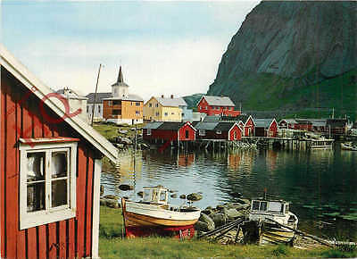 Postcard; Norway, Fishermens Cottages