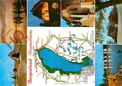 Postcard~ Burgenland, Neusiedlersee, Map