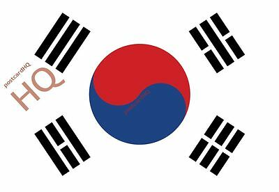 Postcard~ South Korea - Flag (HQ-F-KR)