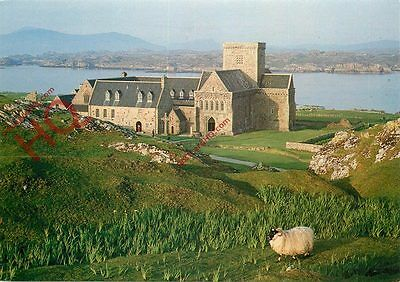 Postcard--Isle Of Iona, Iona Abbey With Mull Hills