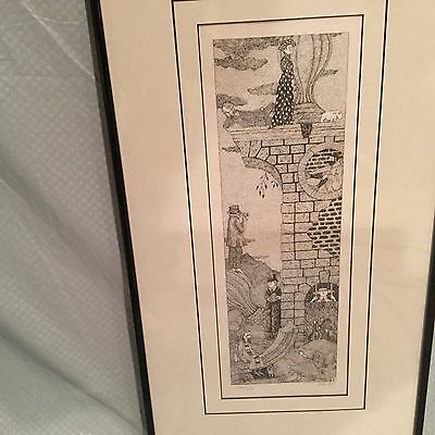 """Edward Gorey """"The Tower"""" Signed Limited Edition Surrealist Print"""