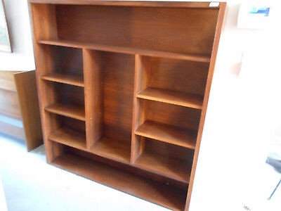 Mid Century Danish Modern Teak Bookcase Wall Unit Storage Book Case Cabinet