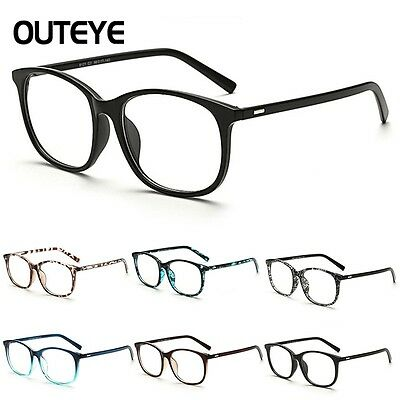Clear Lens Eyeglasses Frame Retro Vintage Round Men Women Eyewear Nerd Glasses D