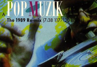 "M Pop Muzik 1989 Remix 12"" Italo Hi-nrg Gay"